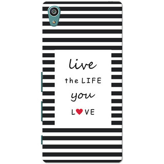 Xperia Z5 Case, Xperia Z5 Dual Case, Live Life Black Slim Fit Hard Case Cover/Back Cover for Sony Xperia Z5 Dual/Z5