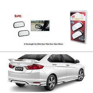 AutoStark 3R Wide Rectangle Car Blind Spot Side Rear View Mirror (Set of 2) For Honda City (2014 Upwards)