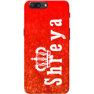 OnePlus 5 Case, One Plus 5 Case, Shreya Red Slim Fit Hard Case Cover/Back Cover for OnePlus 5