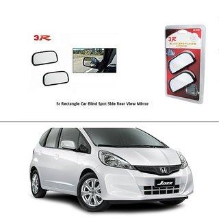 AutoStark 3R Wide Rectangle Car Blind Spot Side Rear View Mirror (Set of 2) For Honda Jazz