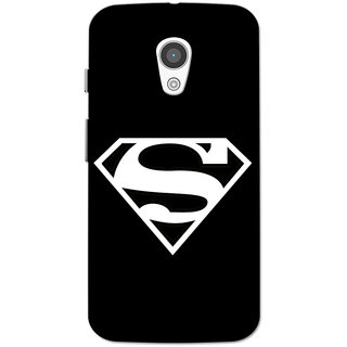 Moto G2 Case, Moto G XT1068 Case, Moto G+1 Case, Supermn Black Slim Fit Hard Case Cover/Back Cover for Moto G 2nd gen/Moto G2