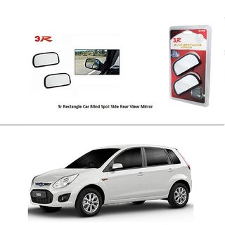 AutoStark 3R Wide Rectangle Car Blind Spot Side Rear View Mirror (Set of 2) For Ford Figo