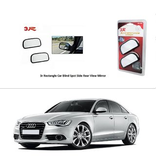 AutoStark 3R Wide Rectangle Car Blind Spot Side Rear View Mirror (Set of 2) For Audi A6