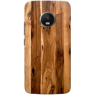 newest collection ef451 330a9 Moto G5 Plus Case, Wooden Texture Light Brown Slim Fit Hard Case Cover/Back  Cover for Motorola Moto G5 Plus
