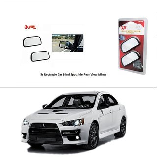 AutoStark 3R Wide Rectangle Car Blind Spot Side Rear View Mirror (Set of 2) For Mitsubishi Lancer