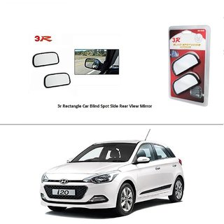 AutoStark 3R Wide Rectangle Car Blind Spot Side Rear View Mirror (Set of 2) For Hyundai I10
