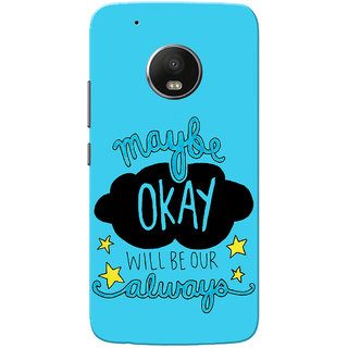 Moto G5 Plus Case, Maybe Okay Blue Slim Fit Hard Case Cover/Back Cover for Motorola Moto G5 Plus