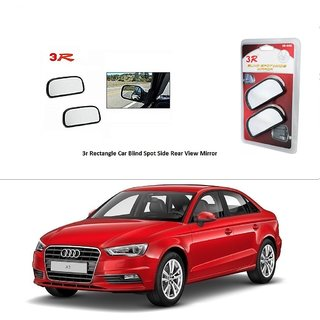 AutoStark 3R Wide Rectangle Car Blind Spot Side Rear View Mirror (Set of 2) For Audi A3