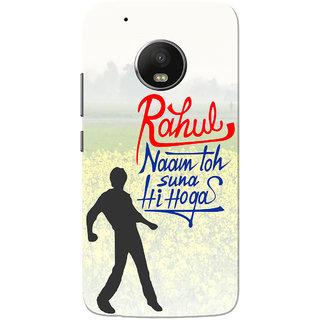 Moto G5 Plus Case, Rahul Naam Toh Suna Hoga Green Red Slim Fit Hard Case Cover/Back Cover for Motorola Moto G5 Plus