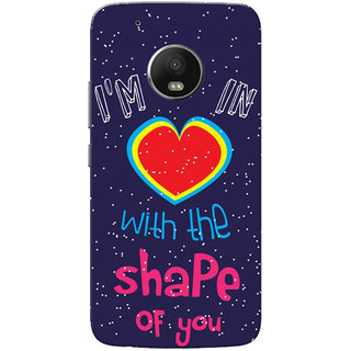 Moto G5 Plus Case, In Love With Shape Of You Violet Pink Slim Fit Hard Case Cover/Back Cover for Motorola Moto G5 Plus