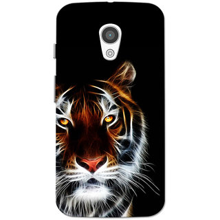 Moto G2 Case, Moto G XT1068 Case, Moto G+1 Case, Tiger Black Slim Fit Hard Case Cover/Back Cover for Moto G 2nd gen/Moto G2