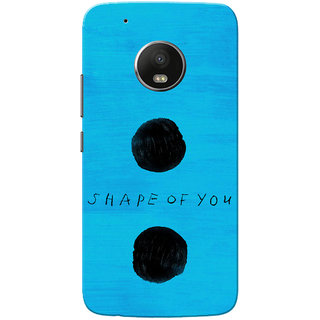 Moto G5 Plus Case, Shape Of You Blue Black Slim Fit Hard Case Cover/Back Cover for Motorola Moto G5 Plus