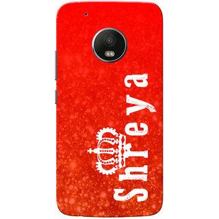 Moto G5 Plus Case, Shreya Red Slim Fit Hard Case Cover/Back Cover for Motorola Moto G5 Plus