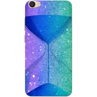 Vivo V5 Plus Case, Hourglass Sparkle Blue Green Slim Fit Hard Case Cover/Back Cover for Vivo V5 Plus