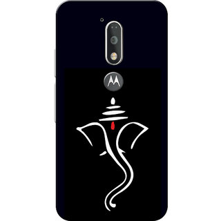 Moto G4 Plus, Moto G4 Case, Ganpati Bappa Black White Slim Fit Hard Case Cover/Back Cover for Moto G4 Plus/Motorola Moto G4/Moto G Plus 4th Gen/Moto G 4th Gen