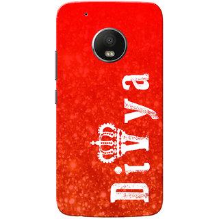 Moto G5 Plus Case, Divya Red Slim Fit Hard Case Cover/Back Cover for Motorola Moto G5 Plus