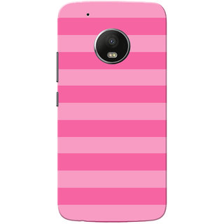 Moto G5 Plus Case, Pink Strips Slim Fit Hard Case Cover/Back Cover for Motorola Moto G5 Plus