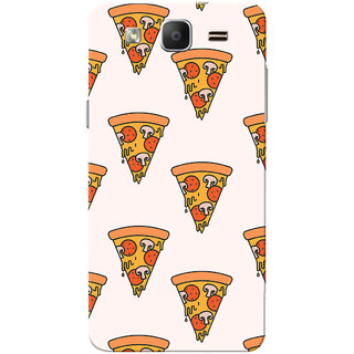Galaxy On5 Case, Galaxy On5 Pro Case, Pizza Pattern White Slim Fit Hard Case Cover/Back Cover for Samsung Galaxy On 5/On5 Pro
