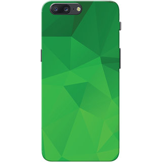 OnePlus 5 Case, One Plus 5 Case, Green Shade Crystal Print Slim Fit Hard Case Cover/Back Cover for OnePlus 5