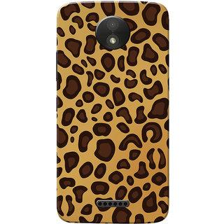 Moto C Plus Case, Animal Print Slim Fit Hard Case Cover/Back Cover for Motorola Moto C Plus