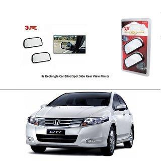 AutoStark 3R Wide Rectangle Car Blind Spot Side Rear View Mirror (Set of 2) For Honda City i-VTEC