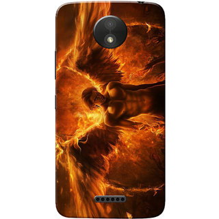 Moto C Plus Case, Devil Fire Slim Fit Hard Case Cover/Back Cover for Motorola Moto C Plus