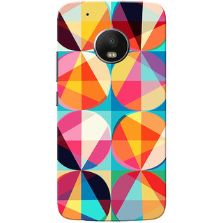 Moto G5 Plus Case, Multi Color Abstract Circles Slim Fit Hard Case Cover/Back Cover for Motorola Moto G5 Plus