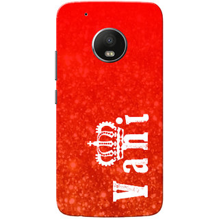 Moto G5 Plus Case, Vani Red Slim Fit Hard Case Cover/Back Cover for Motorola Moto G5 Plus