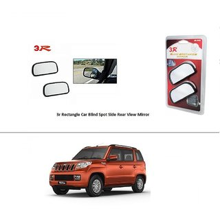 AutoStark 3R Wide Rectangle Car Blind Spot Side Rear View Mirror (Set of 2) For Nissan Terrano