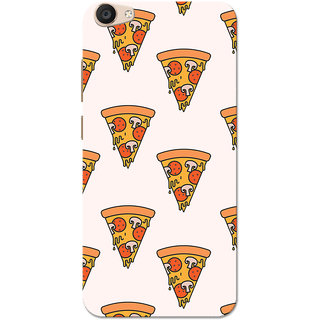 Vivo V5 Plus Case, Pizza Pattern White Slim Fit Hard Case Cover/Back Cover for Vivo V5 Plus