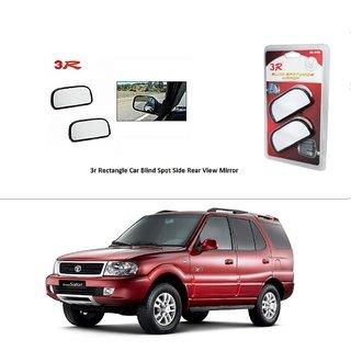 AutoStark 3R Wide Rectangle Car Blind Spot Side Rear View Mirror (Set of 2) For Tata Safari