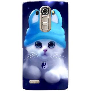 LG G4 Case, Cute Kitten Blue Slim Fit Hard Case Cover/Back Cover for LG G4