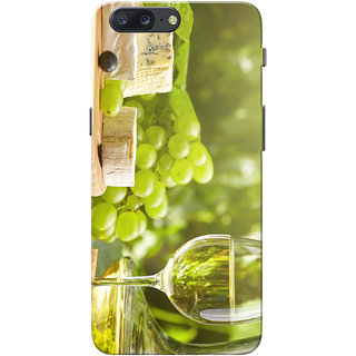 OnePlus 5 Case, One Plus 5 Case, Grape Wine Green Slim Fit Hard Case Cover/Back Cover for OnePlus 5