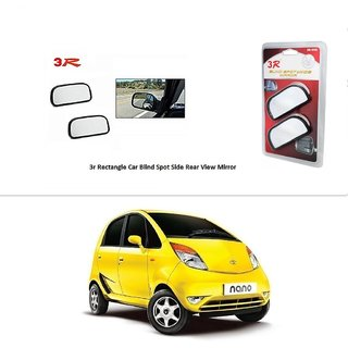 AutoStark 3R Wide Rectangle Car Blind Spot Side Rear View Mirror (Set of 2) For Tata Nano
