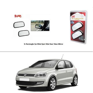 AutoStark 3R Wide Rectangle Car Blind Spot Side Rear View Mirror (Set of 2) For Volkswagen Polo