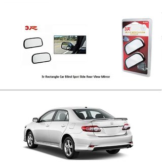 AutoStark 3R Wide Rectangle Car Blind Spot Side Rear View Mirror (Set of 2) For Toyota Corolla