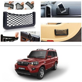 AutoStark Storage Bag Box Car Seat Side Back Net Phone Holder Pocket Organizer For Mahindra New Scorpio 2015