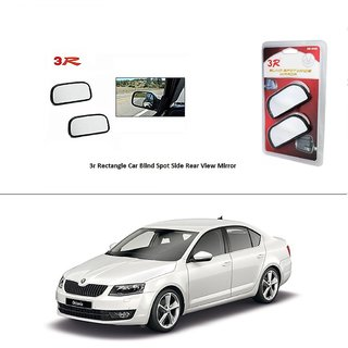 AutoStark 3R Wide Rectangle Car Blind Spot Side Rear View Mirror (Set of 2) For Toyota Fortuner 2015
