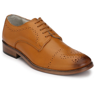 Hirels Tan Derby Original Leather Formal Shoes