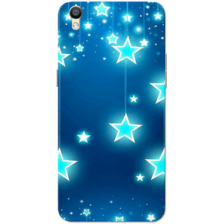 Oppo F1 Plus Case, Oppo R9 Case, Chirstmas Stars Slim Fit Hard Case Cover/Back Cover for Oppo R9/Oppo F1 Plus