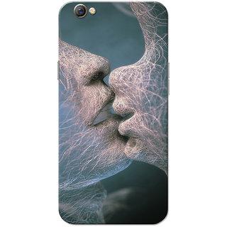 Oppo F3 Case, Thread Kiss White Green Slim Fit Hard Case Cover/Back Cover for OPPO F3
