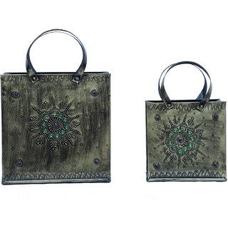 ATC Multicolor Iron Decorative Bags Set of 2