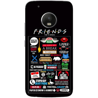 Moto G5 Plus Case, Friends Black Slim Fit Hard Case Cover/Back Cover for  Motorola Moto G5 Plus