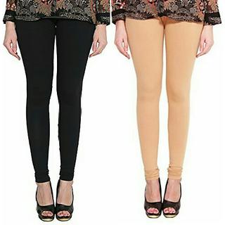 Alishah Cotton Lycra Premium Leggings For Women And Girl Black Bright Skin