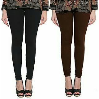 Alishah Cotton Lycra Premium Leggings For Women And Girl Black Brown