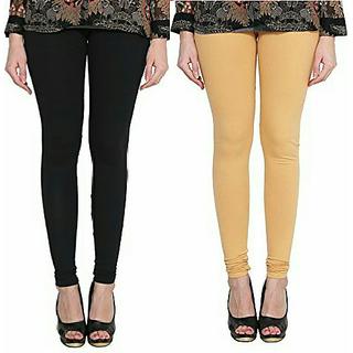 Alishah Cotton Lycra Premium Leggings For Women And Girl Black Gold Skin