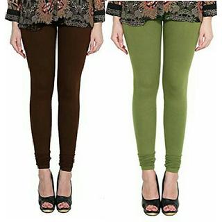 Alishah Cotton Lycra Premium Leggings For Women And Girl Brown Mehandi
