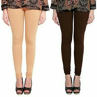 Alishah Cotton Lycra Premium Leggings For Women And Girl Bright Skin Brown