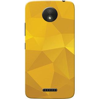 Moto C Plus Case Yellow Shade Crystal Print Slim Fit Hard Case Cover Back Cover For Motorola Moto C Plus