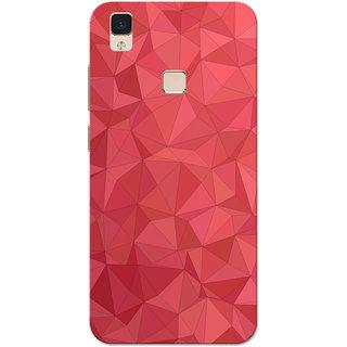 reputable site 6a745 0697b Vivo V3 Max Case, VivoV3Max Case, Red Crystal Print Slim Fit Hard Case  Cover/Back Cover for Vivo V3 Max